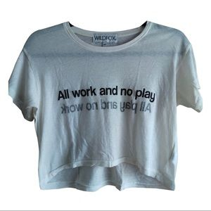 All work & no play top